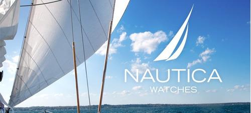 reloj nautica hombre caucho acero tienda oficial a12023g