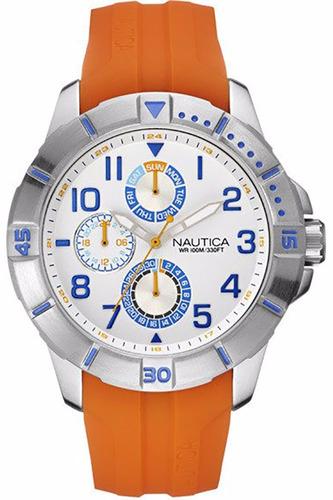reloj nautica hombre caucho naranja tienda oficial nai12507g