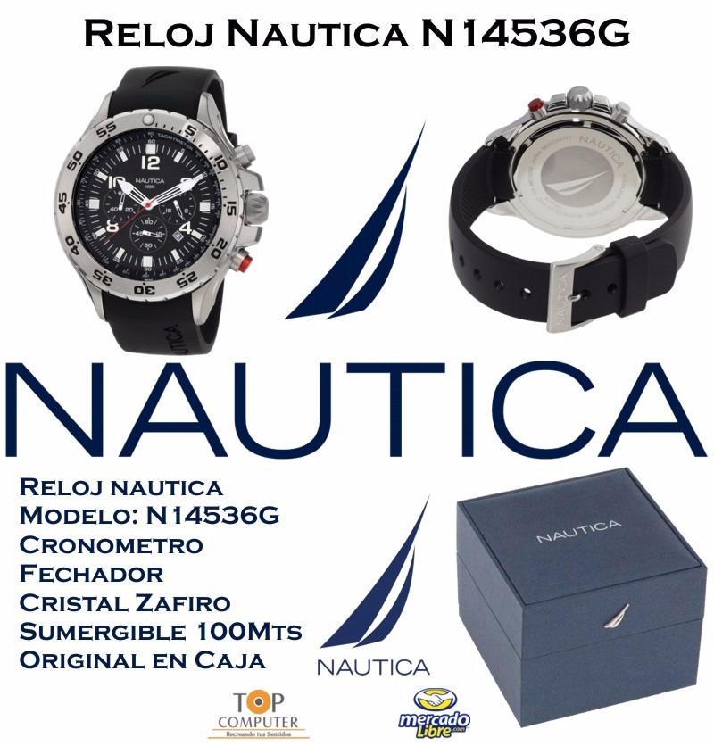 aff855278daa reloj nautica hombre n14536g nst light diving nuevo en caja. Cargando zoom.