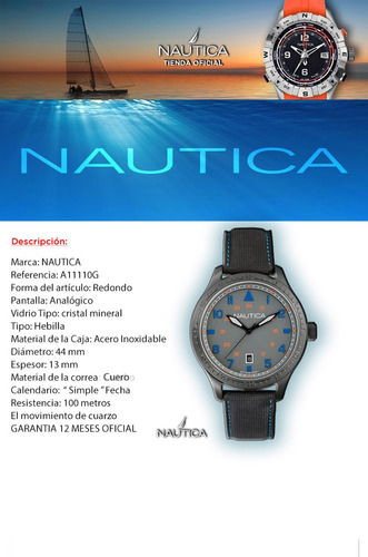reloj nautica hombre tienda  oficial a11110g