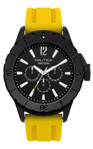 reloj nautica n g amarillo. w142