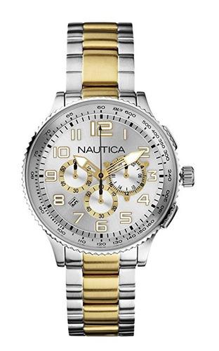 reloj nautica n m plateado