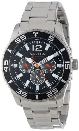 reloj nautica n13652g plateado masculino