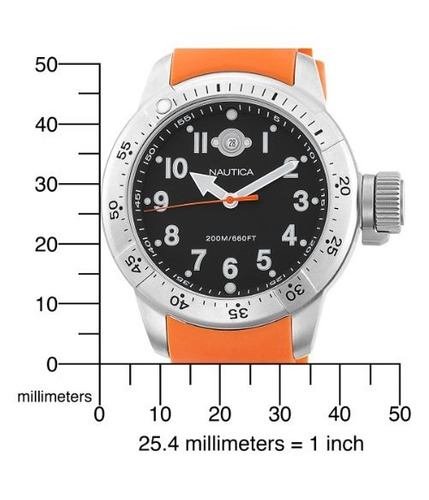 reloj nautica n14508 contra agua 200mts