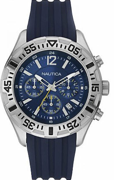 c6b751b84379 Reloj Nautica Para Hombre N17667g Nst 402 Azul Cronógrafo ...