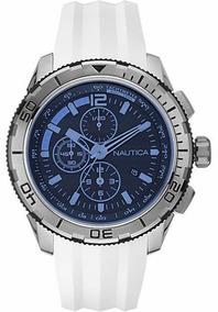 8ddc834f6ee7 Reloj Nautica Original A18602g Cronogafo Hombre Correa Cuero en ...