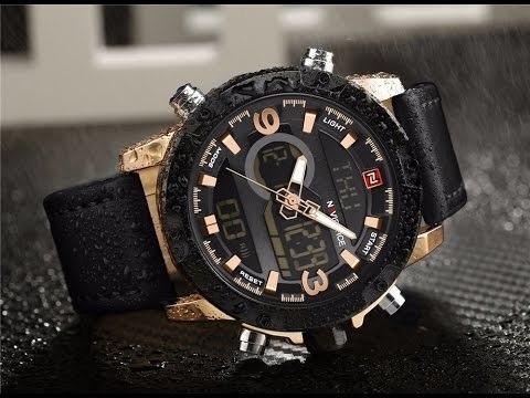 reloj naviforce 9097  hombre casual sport elegante  + caja