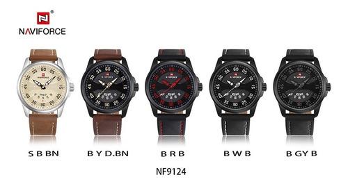 reloj naviforce 9124 lujo deportivo analógico cuarzo