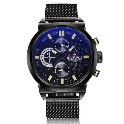 reloj naviforce edición de lujo con caja acero inoxidable