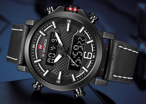 reloj naviforce militar deportivo de cuarzo para hombre