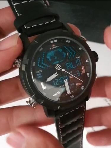 reloj naviforce nf9160 cuero legitimo hombre