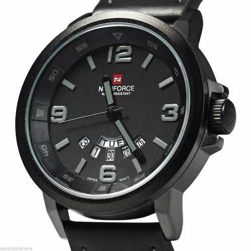 reloj naviforcenf9028 negro correa de cuero