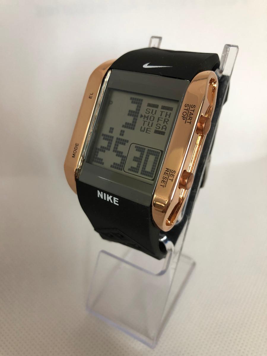 Digital Electrolu Nike CuadradoCrono hora Reloj FechaLuz RjA345L