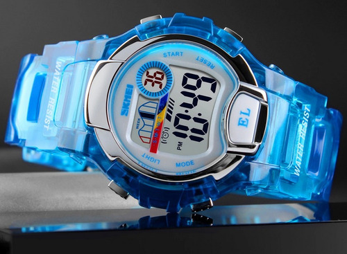 reloj niño dama skmei digital azul disponible