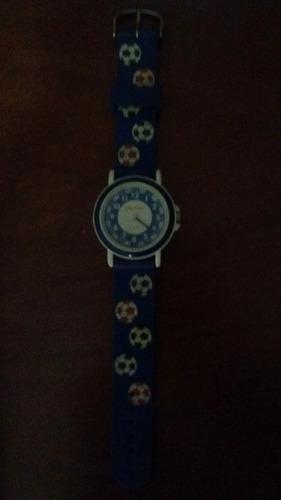 reloj niño fútbol análogo marca lounge