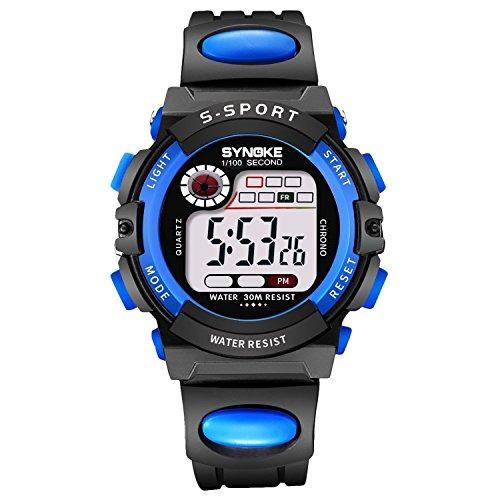 978be4213 Reloj De Alarma Digital Para Niños Relojes Impermeables Para ...