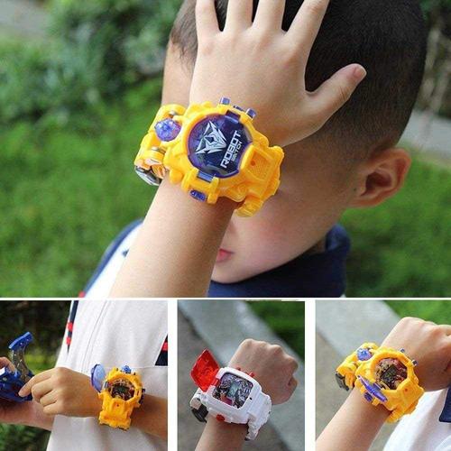 reloj niños unisex digital robot transformer
