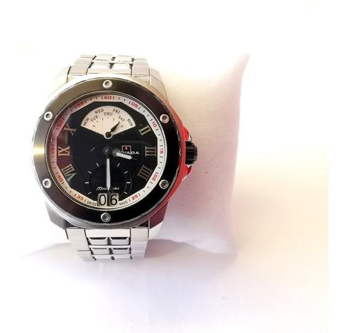 reloj nivada moonmaster plata acero inoxidable envio gratis