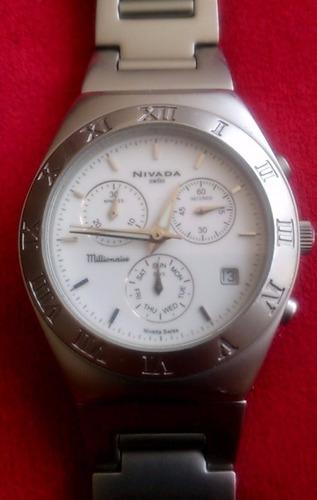 reloj nivada swiss millionaire np3336m cronografo