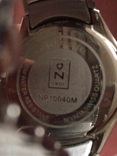 reloj nivada swiss para caballero en caja - seminuevo
