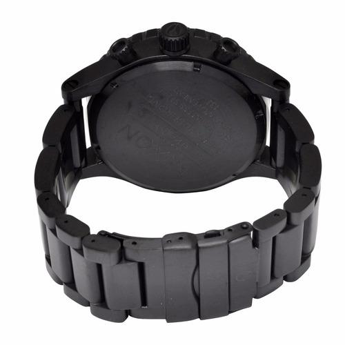 reloj nixon a083001 cronografo empavonado 300m wr all black