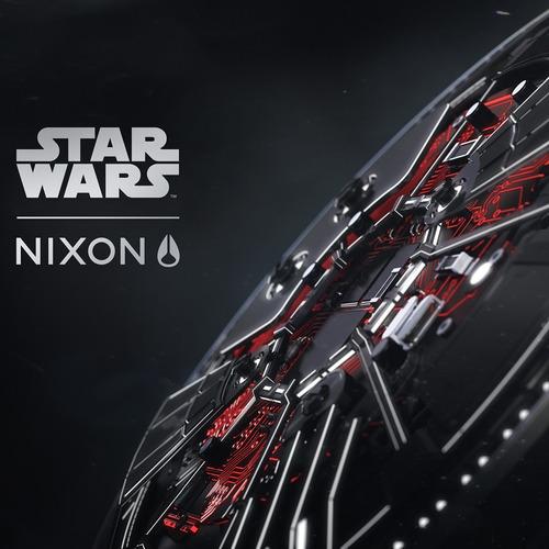 reloj nixon a1063sw2444 star wars leather kylo ren 300m wr