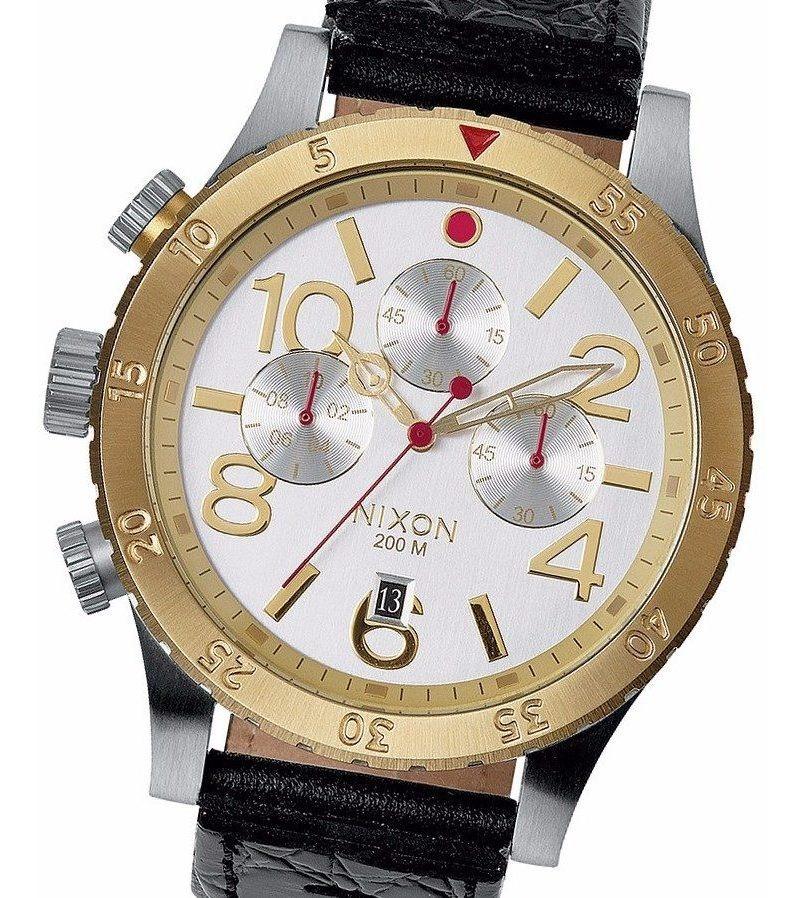 Reloj Nixon A3631884 48 20 Cronografo 20 Bar Cuadrante Acero Malla Cuero Watch Fan Locales Palermo Y Saavedra