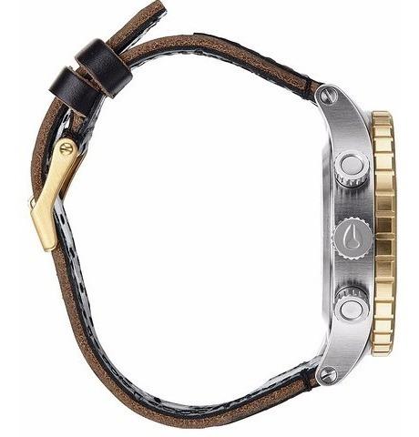 reloj nixon a3631884 48-20 cronografo 20 bar cuadrante acero malla cuero watch fan locales palermo y saavedra