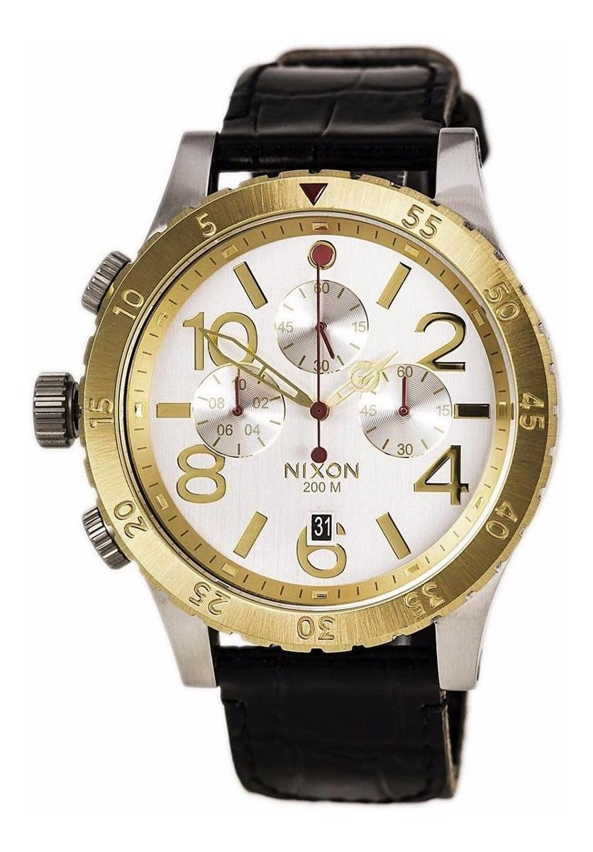 Reloj Nixon A3631884 48 20 Cronografo 200m Wr Acero Cuero