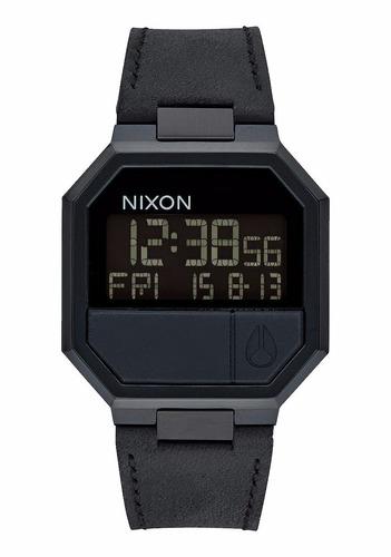 reloj nixon a944-001-00 re run acero pvd malla de cuero