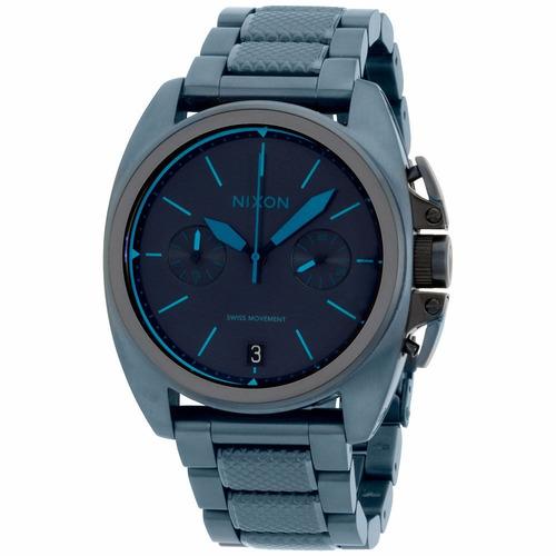reloj nixon anthem acero inoxidable azul hombre a9302224