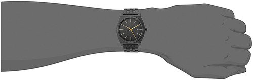 reloj nixon mens time teller quartz metal
