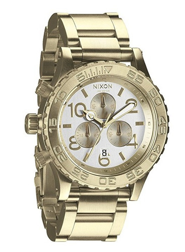 reloj nixon the 40-20 acero dorado hombre a0371219