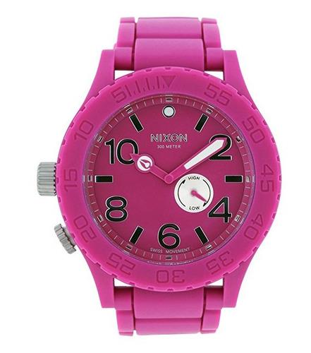 reloj nixon the 51-30 caucho rosa unisex a236644