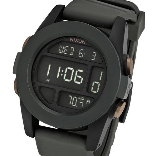 reloj nixon unit a1971265 temperatura surplus black orange