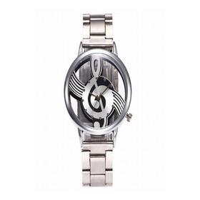 Reloj Nota Musical Con Correa De Eslabones