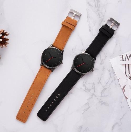 reloj nuevo para hombre casual correa tipo piel envio gratis