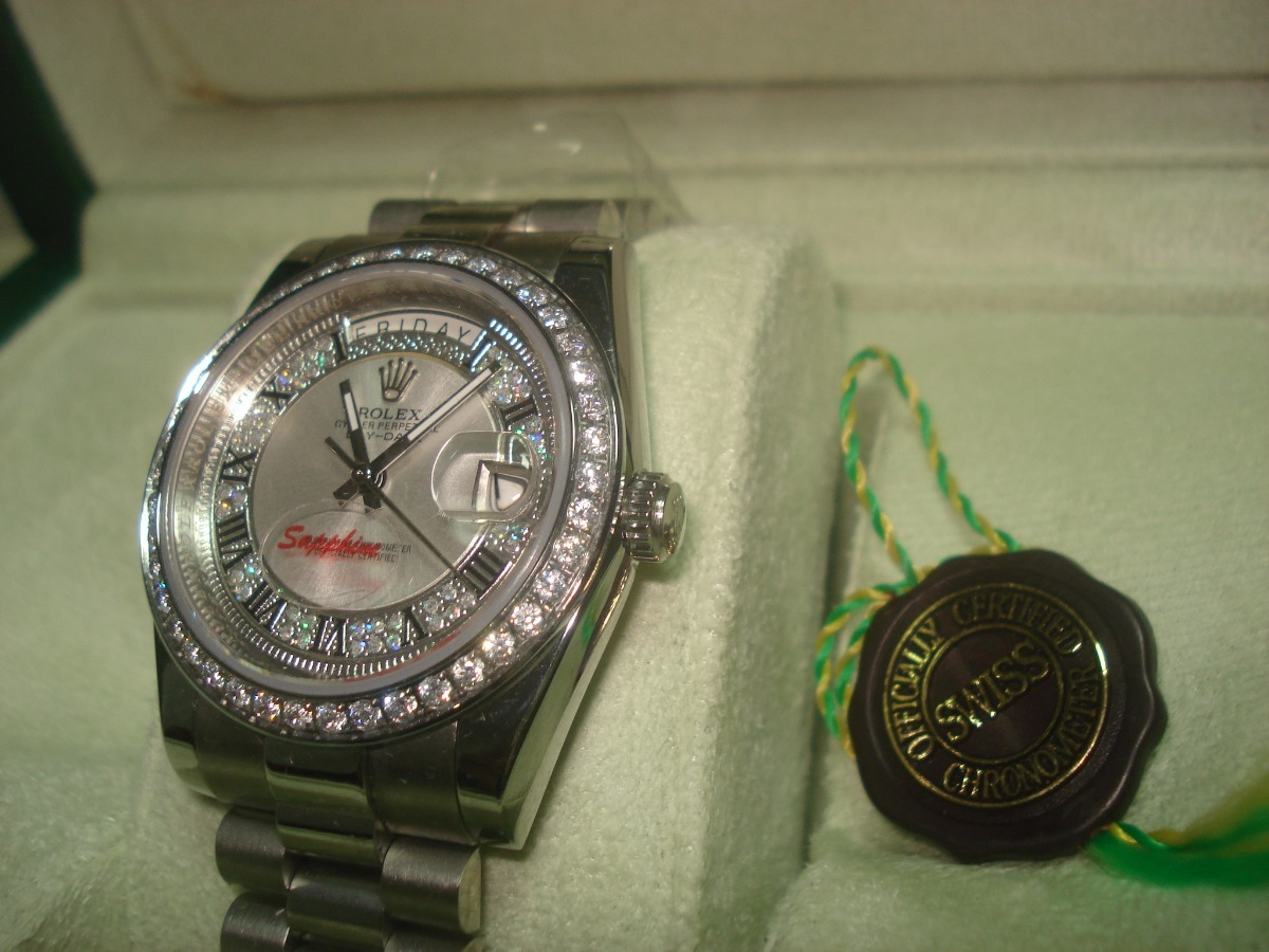 c17185d0da8 reloj nuevo rolex day- date color platino automático. Cargando zoom.