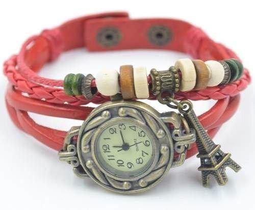 reloj o relojes con dijes hermos diseño muchos colores promo