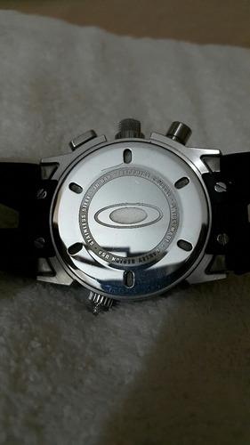 reloj oakley 12 gauge blue estética de 9 excelente precio