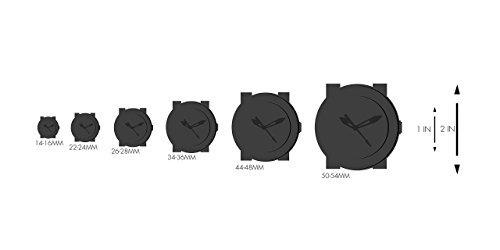 reloj ocasional del acero inoxidable y de la resina del cuar
