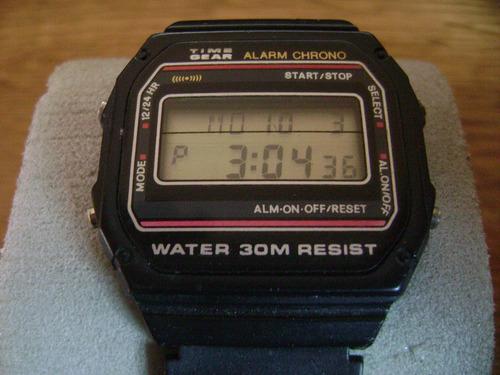 reloj ochentero time gear...  de colección.
