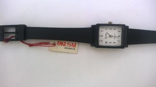 reloj okusai para damas rectangular deportivo sumergible