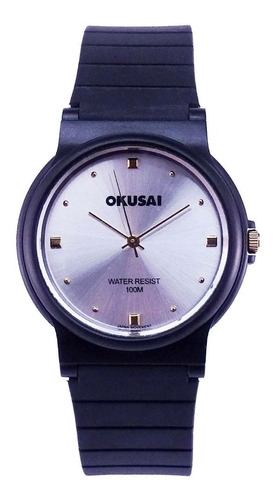 reloj okusai steel wr100m. acero steel garantía oficial 12m