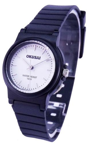 reloj okusai steel wr100m. acero white garantía oficial 12m