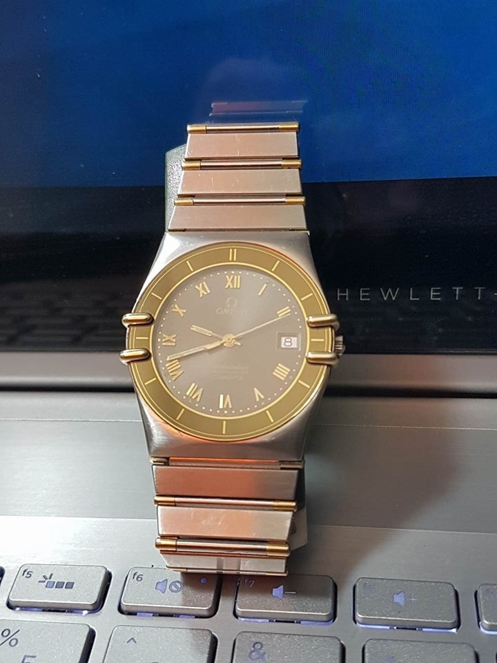 936e5925312c reloj omega constellation chronometer quartz oro 18k y acero. Cargando zoom.