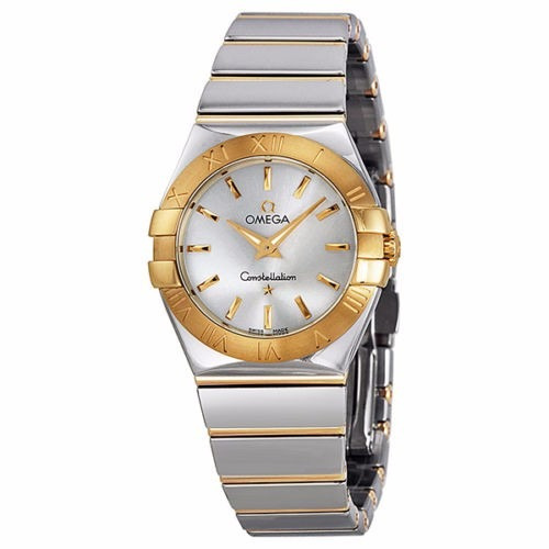 Reloj omega acero y oro mujer