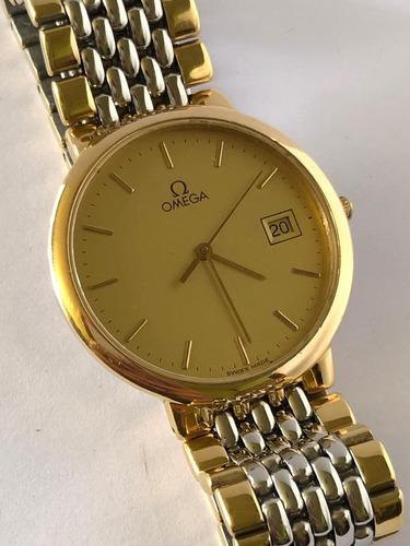 reloj omega de ville dorado