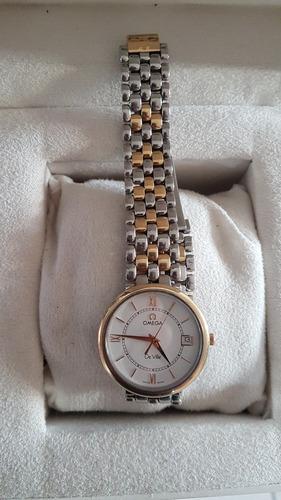 reloj omega deville acero/oro quartz caballero