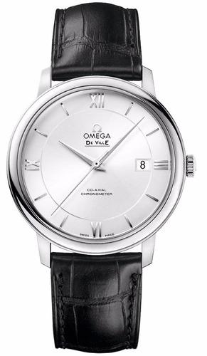 reloj omega deville automático piel negra 42413402002001